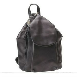 Tignanello 'Madison' Black Leather Backpack